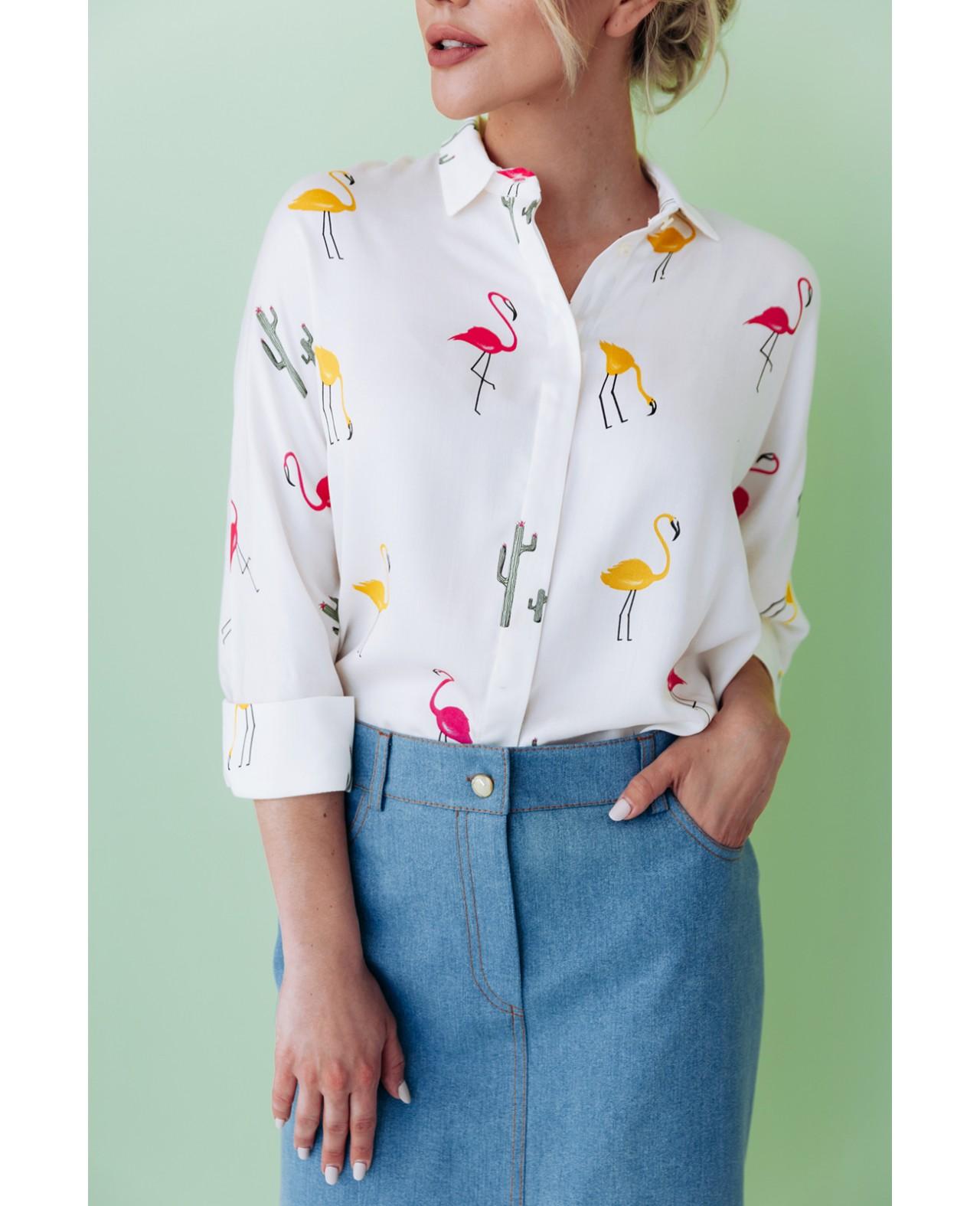 """Рубашка """"Fenicotteri"""""""